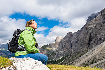 Resting at the Sella Pass - p488m932677 by Bias