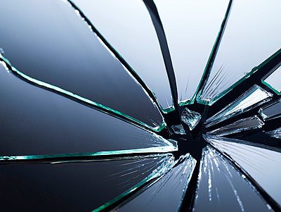 Broken glass. - p312m748899f by Per Makitalo