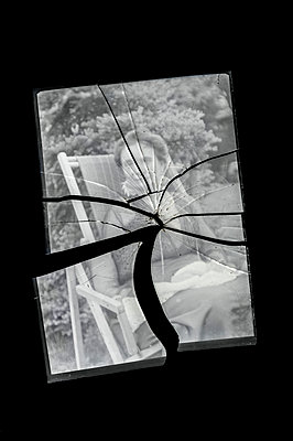 Broken antique glass negative - p971m1444794 by Reilika Landen