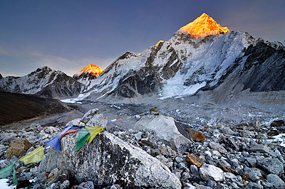 Nepal mountain landscape at sunset - p316m664159 by Yevgen Timashov