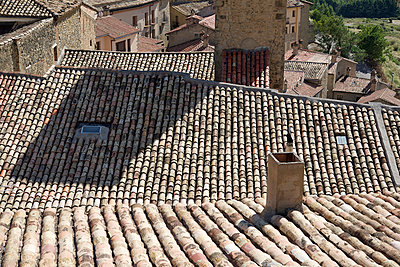 Rooftops at Sos del Rey Catolico - p1072m993438 by Alison Morton