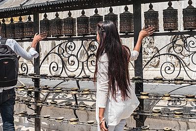 Tempelanlage Swayambhunath - p1243m1525625 von Archer