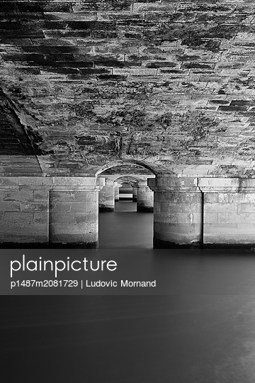 central vision under a parisian bridge - p1487m2081729 by Ludovic Mornand