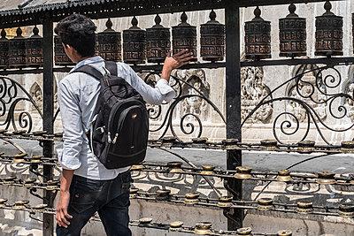 Tempelanlage Swayambhunath - p1243m1525624 von Archer