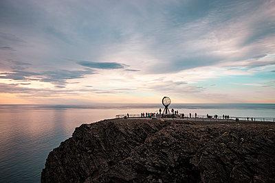 Midnight sun at North Cape - p382m2254529 by Anna Matzen