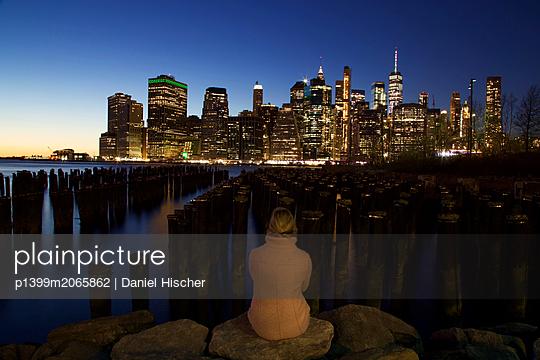 Ausblick auf Manhattan - p1399m2065862 von Daniel Hischer