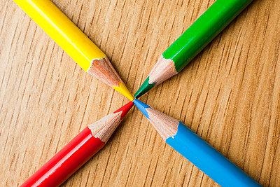 Four colored pencils - p4266190f by Tuomas Marttila