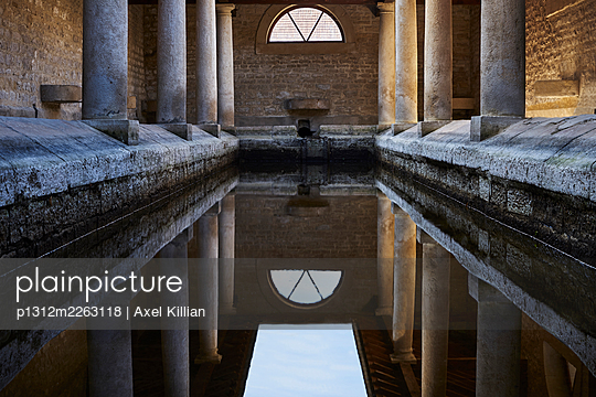 Old washhouse with columns - p1312m2263118 by Axel Killian