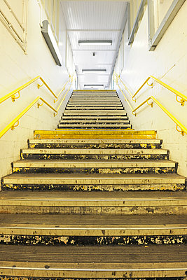 Station staircase  - p1048m1216132 by Mark Wagner