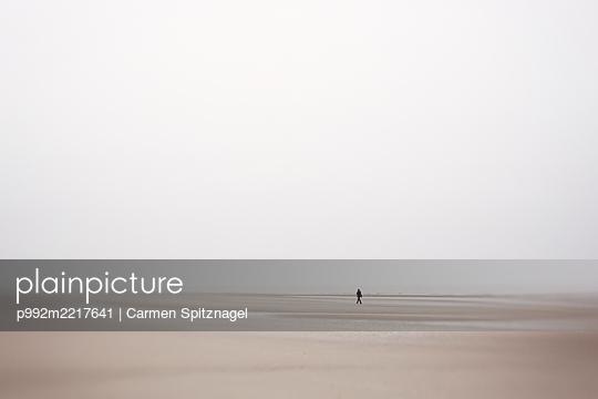 Spaziergänger am Meer - p992m2217641 von Carmen Spitznagel