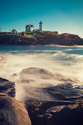 Cape Neddick 'Nubble' Lighthouse - p330m1477284 von Harald Braun