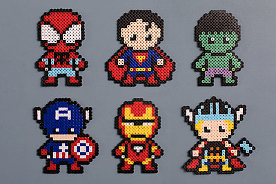 Homemade super heroes - p788m1540363 by Lisa Krechting