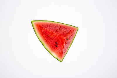 A single  chunk of watermelon  - p1057m2008584 by Stephen Shepherd