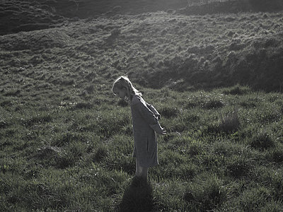 Girl on meadow - p945m2013385 by aurelia frey