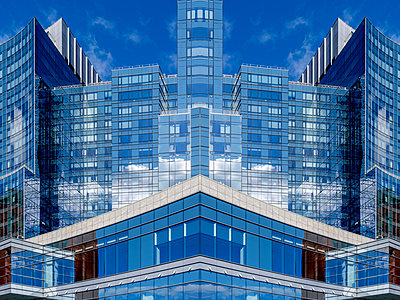 Abstract Architecture Reflection Boston - p401m2219850 by Frank Baquet
