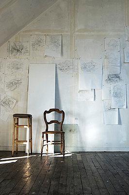 Art studio - p9380040 by Christina Holmes