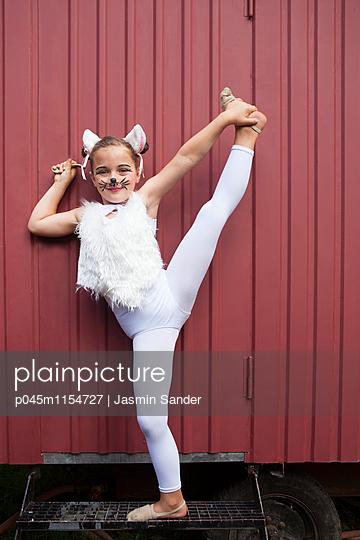 Bewegliches Zirkuskätzchen - p045m1154727 von Jasmin Sander