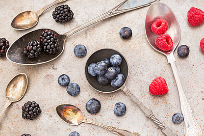 Fruits on various spoons - p300m2029588 by JLPfeifer