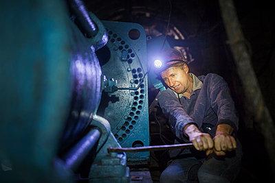 Bergarbeiter untertage - p1319m1203343 von Christian A. Werner