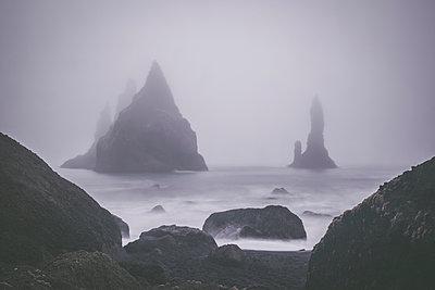 Foggy Beach at Reynisfjara - p1512m2037935 von Katrin Frohns