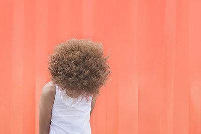 Orange wall - p1323m1181951 by Sarah Toure