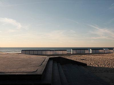 Abendstimmung am Strand von De Panne - p1383m2026476 von Wolfgang Steiner
