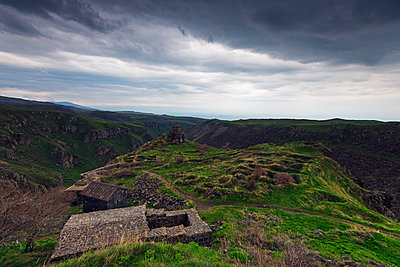 Church at Amberd fortress located on the slopes of Mount Aragat, Aragatsotn Province, Armenia, Caucasus, Central Asia, Asia - p871m1082188 by Christian Kober