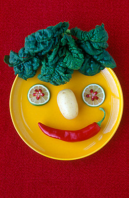 Vegetable face - p1650212 by Andrea Schoenrock