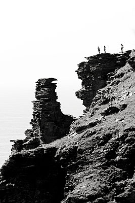 On a cliff, Tintagel, Cornwall - p977m934747 by Sandrine Pic