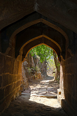 Arched Passageway through Rock Canyon - p1072m941391 by chinch gryniewicz