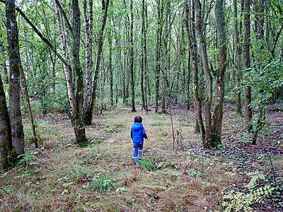 Kleines Kind im Wald - p567m1530400 von Gaëlle Magder