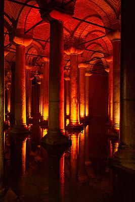 Turkey, Istanbul, Underground interior of Basilica Cistern - p300m2202404 by Artur Bogacki