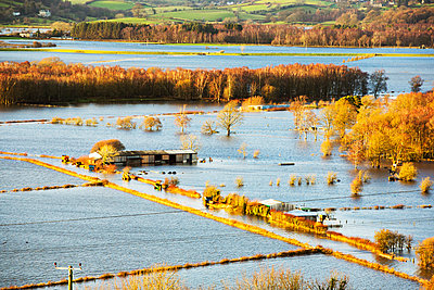 Flooded Lyth Valley, Cumbria, UK - p343m2028909 by Ashley Cooper