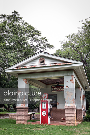 Old Gas Station  - p1019m2099121 by Stephen Carroll