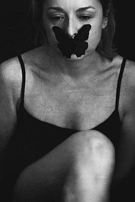Black Butterfly  - p1543m2152922 by Sophia Snadli