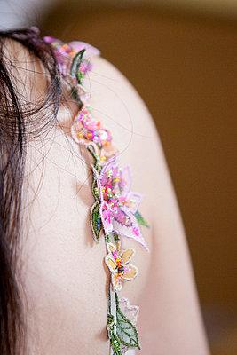 Detail of a dress - p8420103 by Renée Del Missier