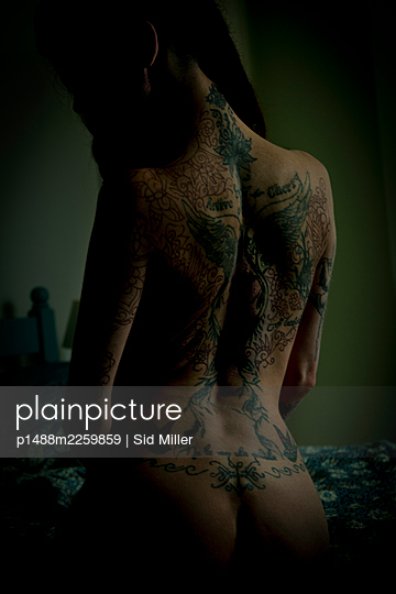 Naked tattooed woman - p1488m2259859 by Sid Miller