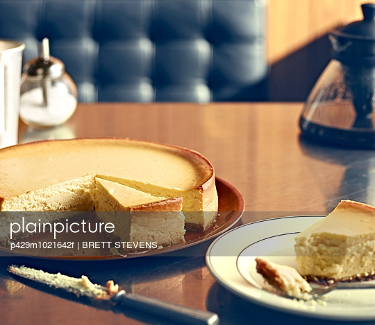 New York Style Diner Series - NY Cheesecake - p429m1021642f by BRETT STEVENS