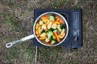 Campinkocher mit Gemüse - p505m1108400 von Iris Wolf