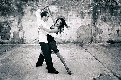Dancing couple - p1445m1562058 by Eugenia Kyriakopoulou