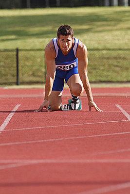 Runner Preparing To Start  - p3071295f by Koji Aoki