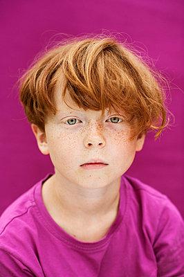 Studio shot of redhead boy - p312m672799 by Elliot Elliot