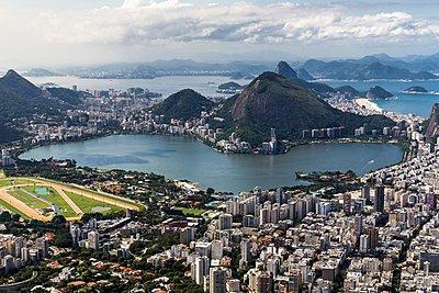 Lagoa Rodrigo de Freitas viewed from Morro dois Irmaos, Rio de Janeiro, Brazil - p429m1054223 by Aziz Ary Neto
