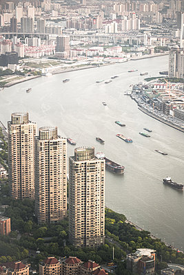 Shanghai from above - p795m1161278 by JanJasperKlein