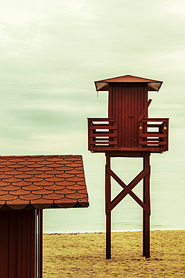 Lifeguard observation tower - p1255m1152851 by Kati Kalkamo