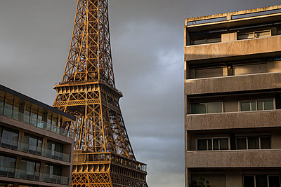 Eiffel tower, seen from a rooftop. Paris. - p942m1128493 by albinmillot
