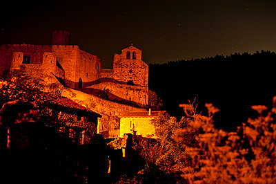 Chalencon Castle at night - p1007m1216539 by Tilby Vattard