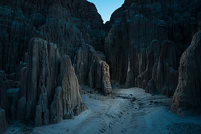 Scenic view of slot canyons at Cathedral Gorge State Park - p1166m1519122 by Cavan Images