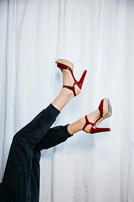 Red High heels - p1621m2264228 by Anke Doerschlen