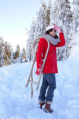 Weihnachtsfrau - p4541773 von Lubitz + Dorner